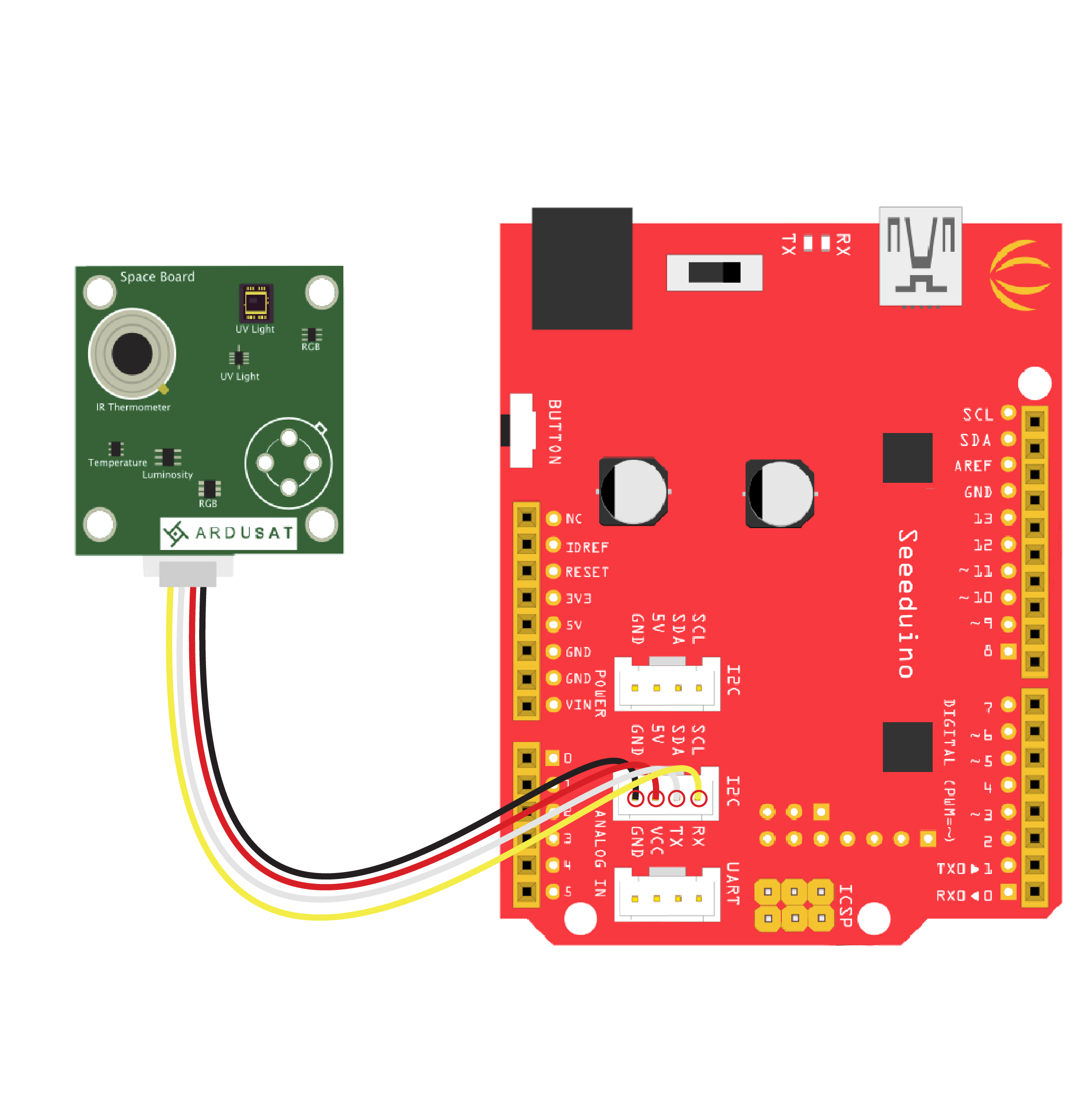 Because Learning Wiring Diagrams Of The Or Ardusat Kit That Uses Arduino Uno Redboard Breakout Sensors Click Here To See